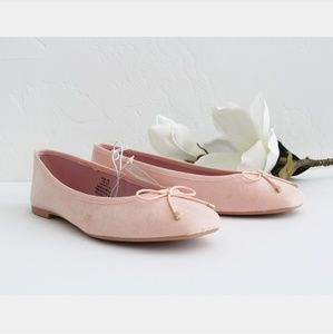 NWOB H&M PINK BOW FLAT SHOES SIZE 5.5